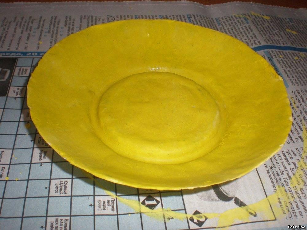 Тарелка из бумаги и клея своими руками 76